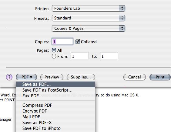 save as pdf and saving web receipts